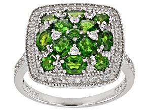 Green Chrome Diopside Silver Ring 2.39ctw