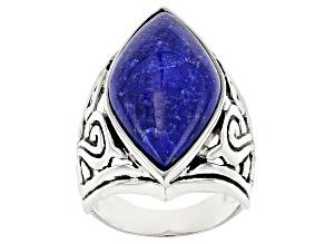 Blue Lapis Lazuli Silver Ring