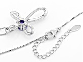 Blue Tanzanite Sterling Silver Cross Slide With Chain .99ct