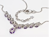 Purple Amethyst Sterling Silver Necklace 1.95ctw