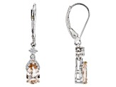 Pink Morganite Sterling Silver Earrings 1.46ctw