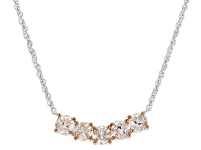 Pink Morganite Two-Tone Sterling Silver Necklace 1.91ctw
