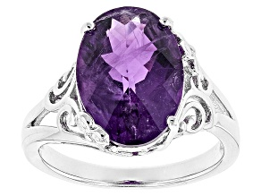 Purple Amethyst Sterling Silver Ring 4.67ct