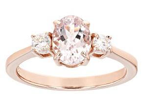 Pink Morganite 18k Rose Gold Over Sterling Silver Ring 1.19ctw