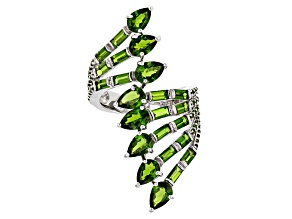 Green Chrome Diopside Sterling Silver Ring 4.73ctw
