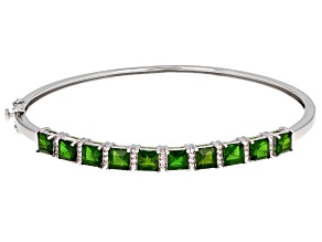Green Chrome Diopside Silver Bracelet 6.48ctw
