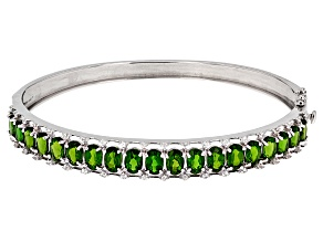 Green Chrome Diopside Silver Bracelet 9.12ctw