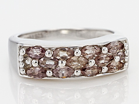 Color shift Garnet Sterling Silver Ring .91ctw