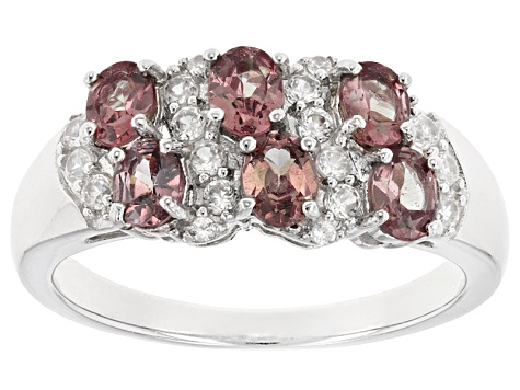 Pink Color Change Garnet Silver Ring 1.33ctw