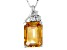 Yellow Citrine Sterling Silver Pendant With Chain 6.26ctw