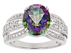 Multicolor Mystic Topaz® Silver Ring 4.50ctw
