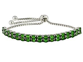 Green Chrome Diopside Sterling Silver Bracelet 7.61ctw