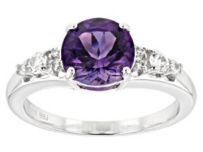 Purple Uruguayan Amethyst Sterling Silver Ring 1.75ctw