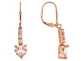 Peach Morganite 18k Rose Gold Over Silver Earrings 2.27ctw
