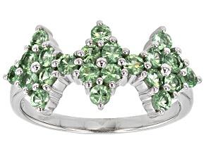 Green Tsavorite Garnet Silver Ring 1.00ctw