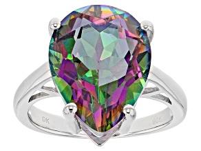 Multicolor Quartz Silver Ring 6.46ct