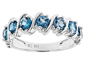 Blue London Blue Topaz Silver Ring 1.25ctw