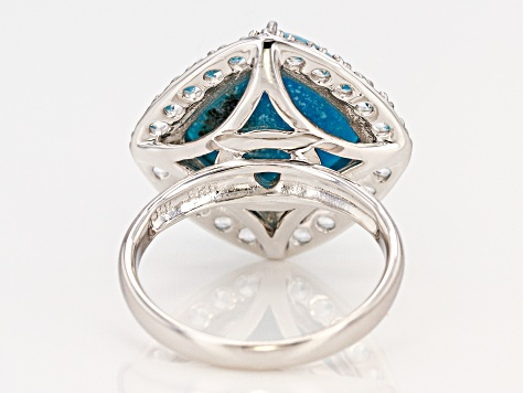 Turquoise Sterling Silver Ring .98ctw