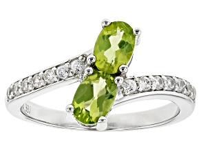 Green Peridot Sterling Silver Ring 1.31ctw