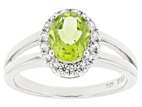Green Peridot Sterling Silver Ring 1.63ctw