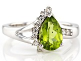Green Peridot Sterling Silver Ring 1.30ctw