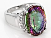 Multi Color Mystic Quartz® Sterling Silver Ring 10.43ctw