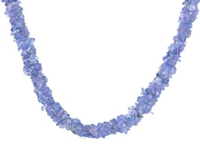 Blue Tanzanite Silver Torsade Necklace