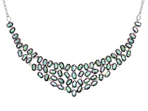 Multicolor Quartz Rhodium Over Sterling Silver Necklace 25.90ctw