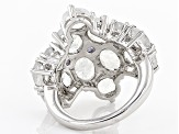 White Rainbow Moonstone Sterling Silver Ring .47ctw