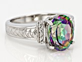 Multicolor Mystic Topaz® Sterling Silver Ring 3.95ctw