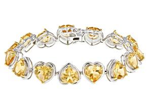 Yellow Golden Citrine Sterling Silver Bracelet 31.76ctw