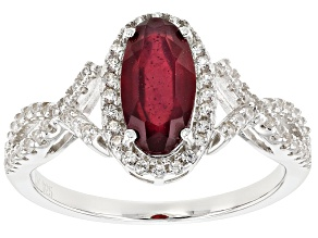 Red Mahaleo® Ruby Silver Ring 2.46ctw