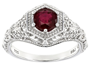 Mahaleo Ruby Sterling Silver Ring 1.37ct