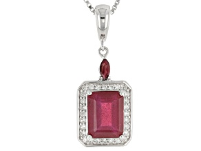 Mahaleo Ruby Sterling Silver Enhancer With Chain 3.45ctw