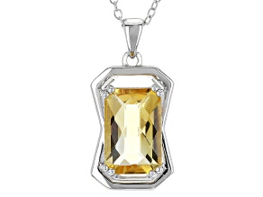 Golden Citrine Silver Pendant With Chain 3.66ct
