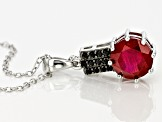 Mahaleo Ruby Silver Pendant With Chain 2.34ctw