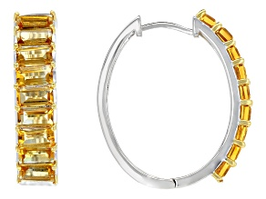 Golden Citrine Sterling Silver Earrings 5.46ctw
