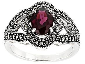 Purple rhodolite Sterling Silver Ring 1.19ct