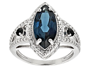 Blue London Blue Topaz Silver Ring 3.16ctw