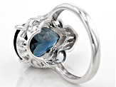Blue London Blue Topaz Silver Ring 6.50ct
