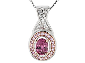 Purple Rhodolite Sterling Silver Pendant With Chain 1.16ctw