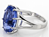 Blue Color Change Fluorite Silver Ring 10.20ct