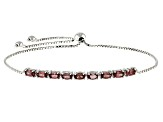 Color Shift Garnet Sterling Silver Bracelet 2.26ctw