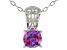 Purple Zirconia From Swarovski ® Rhodium Over Sterling Silver Center Design Pendant 6.58ctw