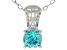 Mint Green Zirconia From Swarovski ® Rhodium Over Silver Center Design Pendant 6.58ctw