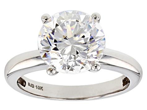 c44bc7e1b86cdc White Zirconia From Swarovski ® 10K White Gold Solitaire Ring 4.81 ...