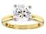 White Zirconia From Swarovski ® 10K Yellow Gold Solitaire Ring 4.81ctw