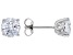 White Zirconia From Swarovski ® Rhodium Over Sterling Silver Earrings 4.48ctw