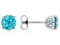 Mint Green Zirconia From Swarovski ® Rhodium Over Sterling Silver Earrings 4.48ctw