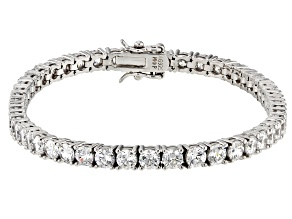 White Zirconia From Swarovski ® Platinum Over Sterling Silver Tennis Bracelet 9.50ctw